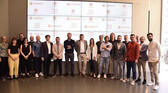 Design Warm Contest foto gruppo professionisti finalisti + Filippo Arbellia (Scirocco H)