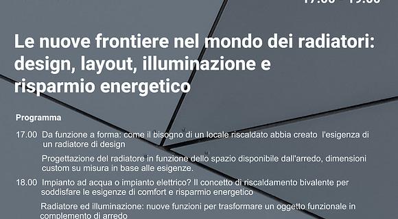 Locandina webinar termoarredi Scirocco